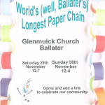 World's (well, Ballater's) Longest Paperchain